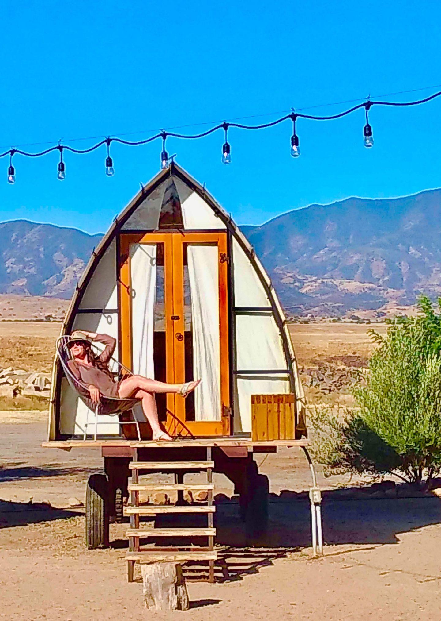 tiny travel chick tiny house getaways new cuyama california