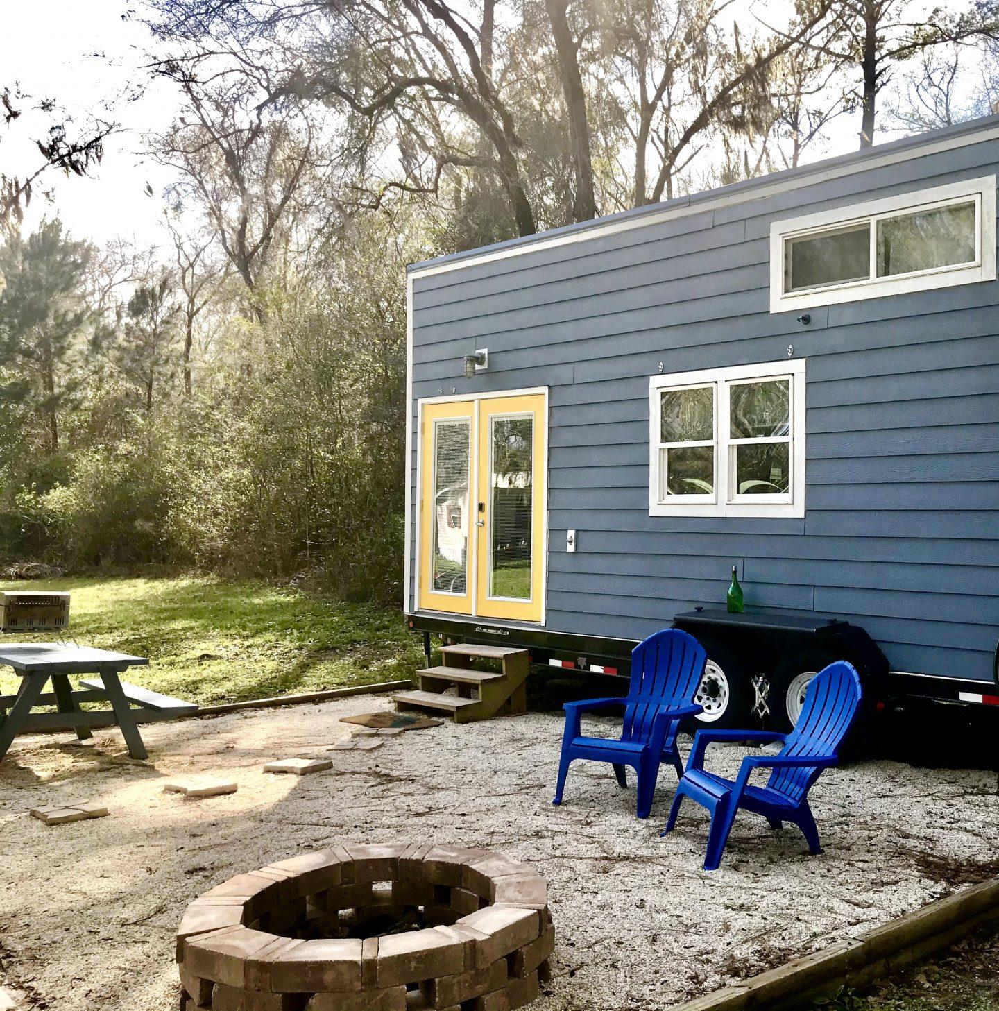tiny travel chick tiny house Florida custom built airbnb