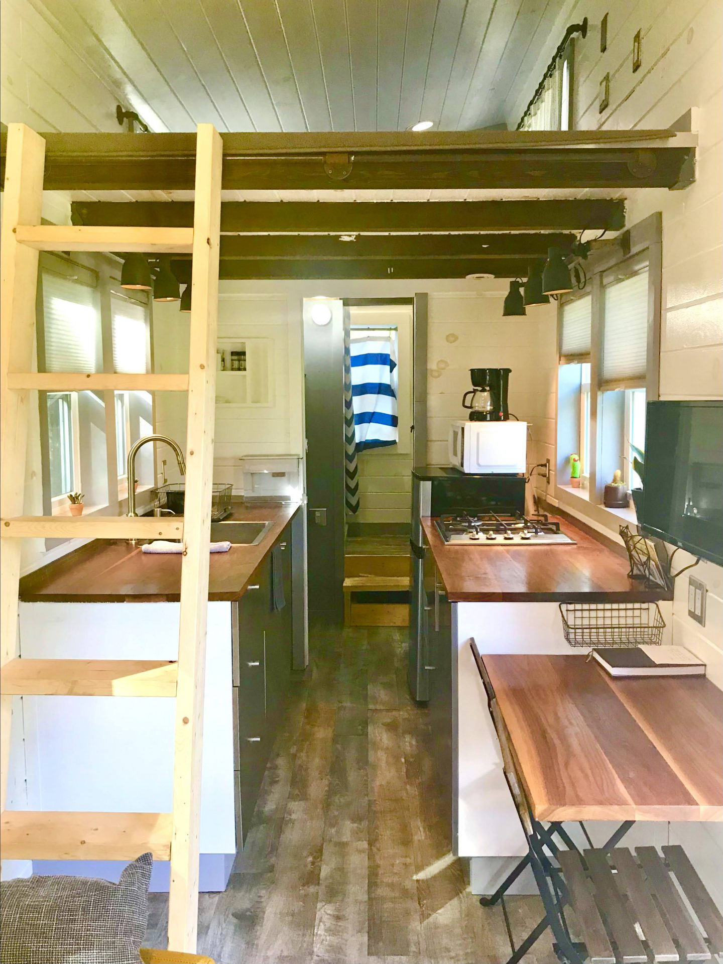 tiny travel chick tiny house florida kitchen