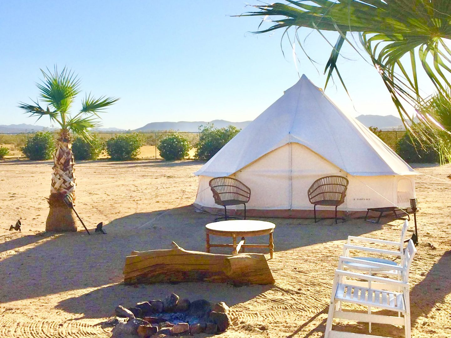 tiny travel chick national park glamping bell tent