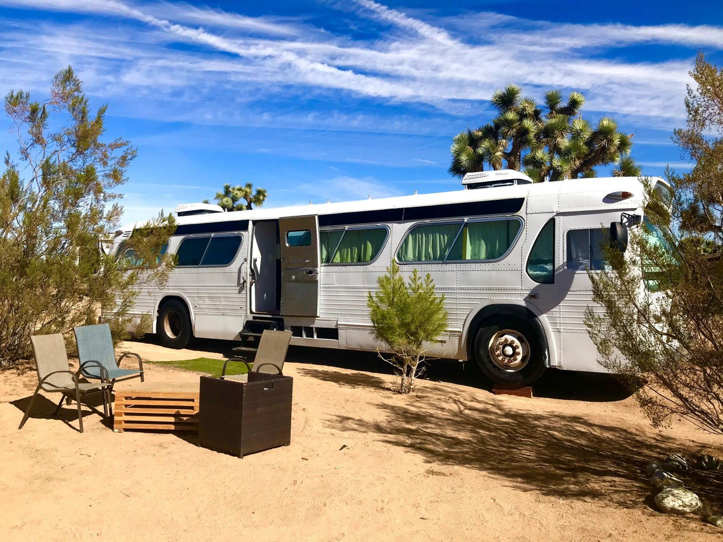 tiny travel chick national park glamping bus