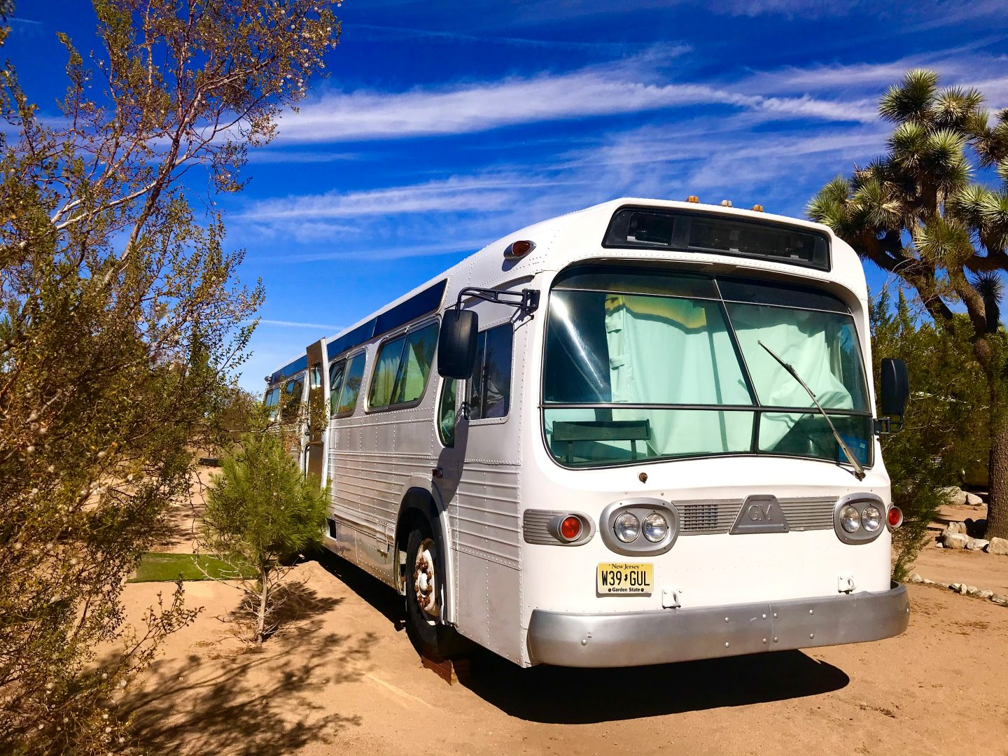 tiny travel chick national park glamping converted bus